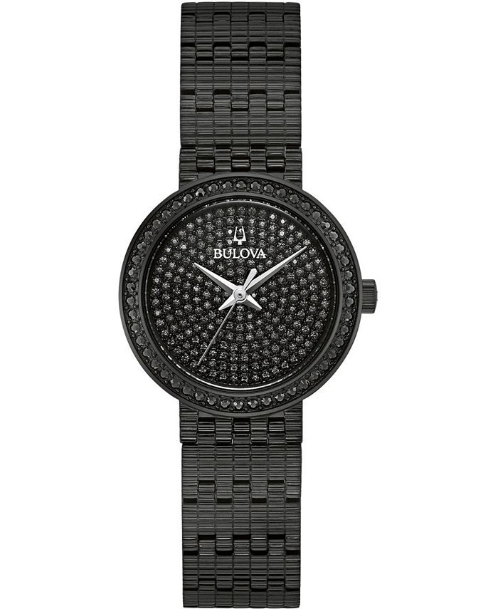 Bulova - Women's Phantom Black Stainless Steel Bracelet Watch 28mm