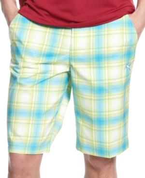Puma Golf Shorts Ombre Plaid Tech Short
