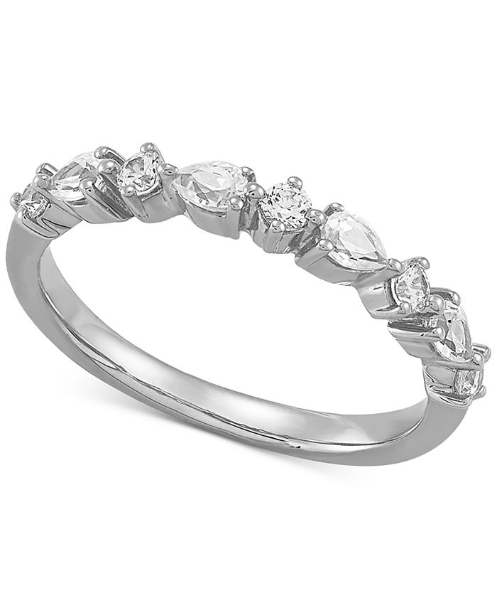 Macy's - Diamond Pear & Round Band (1/2 ct. t.w.) in 14k White Gold
