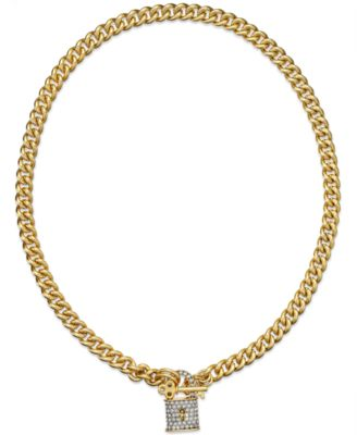 Juicy couture necklace gold tone pave heart charm for Juicy couture jewelry necklace