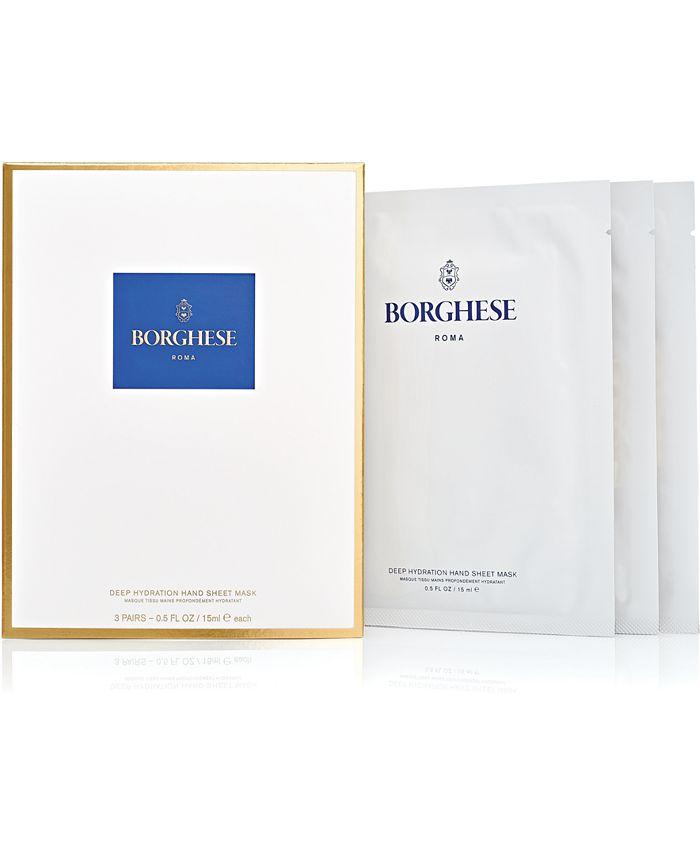 Borghese - Deep Hydration Hand Sheet Masks, 3-Pk.