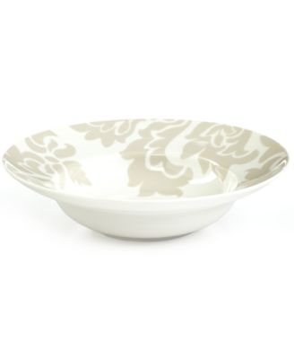 Martha Stewart Collection Lisbon Gray Rim Soup Bowl