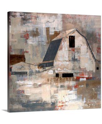 "Early Americana' Framed Canvas Wall Art, 36"" x 36"""