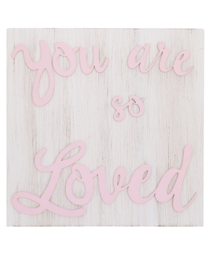 """NoJo - NoJo """"You are so Loved"""" Wood Nursery Wall Décor"""