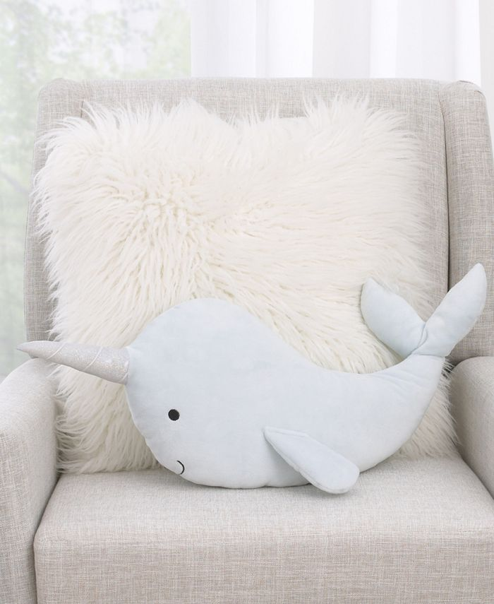 NoJo - NoJo Whimsical Narwhal Decorative Pillow