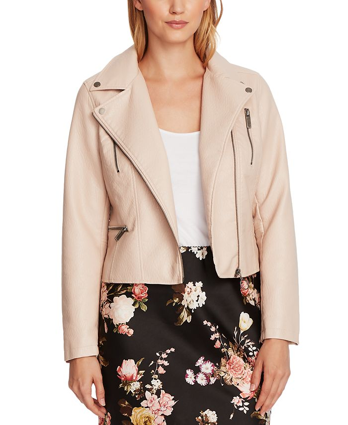 Vince Camuto - Faux-Leather Moto Jacket