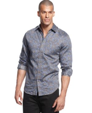 Sean John Shirt Long Sleeve Lasso Print Shirt