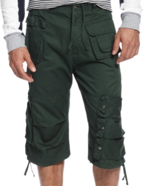 Sean John Shorts Box Flight Cargo Shorts