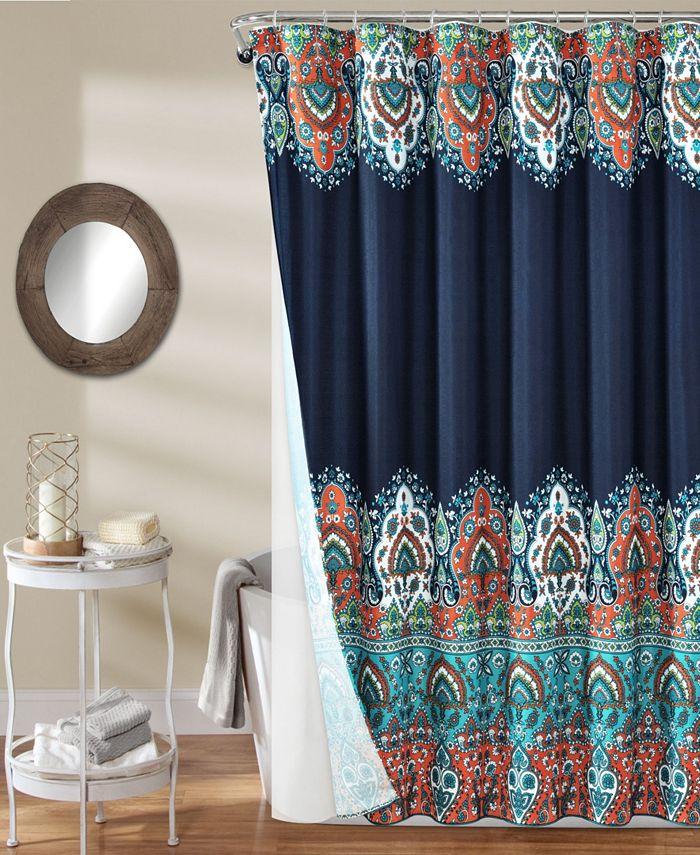 Lush Décor - Bohemian Meadow 14Pc Shower Curtain Set