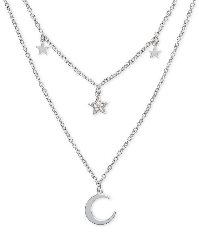 "Olivia Burton - Celestial Charm 16"" Two-Row Pendant Necklace"