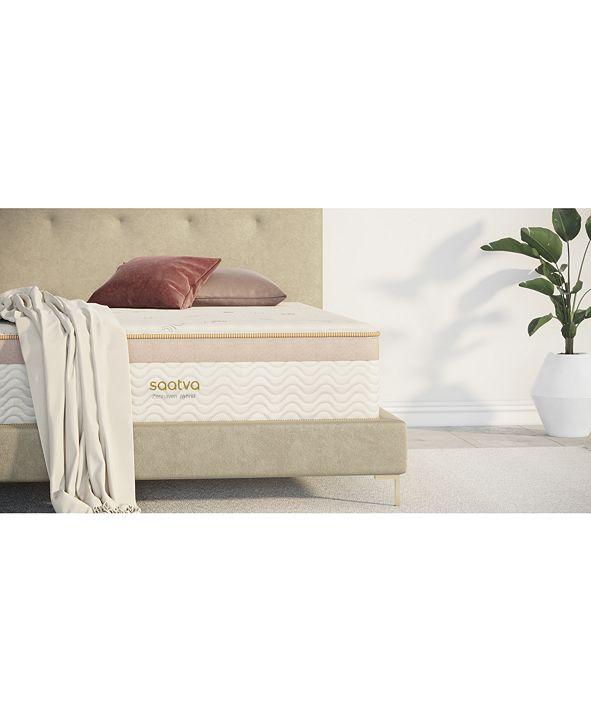 "Saatva Zenhaven 13.5"" Organic Hybrid Luxury Firm Mattress- Twin"