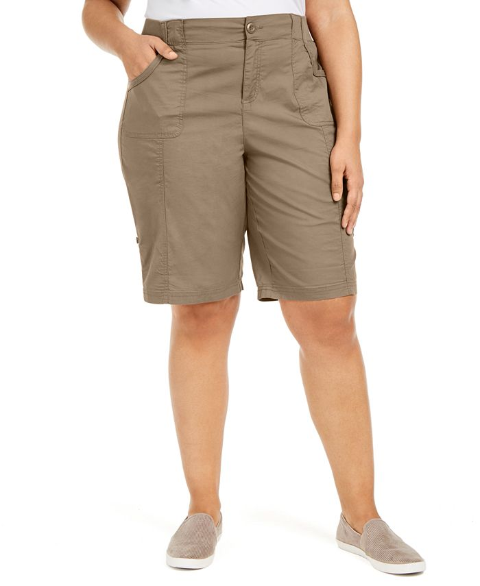 Style & Co - Plus Size Cotton Bermuda Shorts