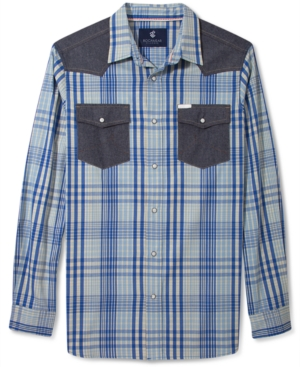 Rocawear Shirt Chill Plaid Western Long Sleeve Shirt