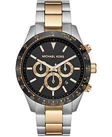 Michael Kors Men's Chronograph Layton Two-Tone Stainless Steel Bracelet Watch 45mm