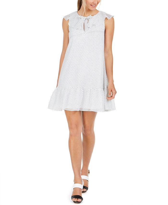 Calvin Klein - Polka-Dot Babydoll Dress