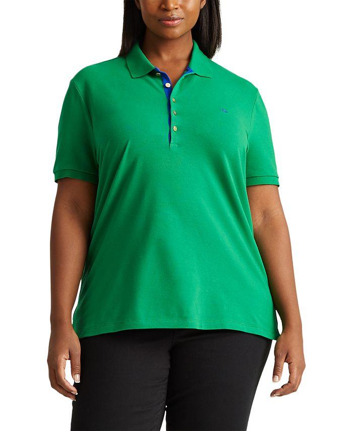 Lauren Ralph Lauren - Plus-Size Piqué Polo Shirt