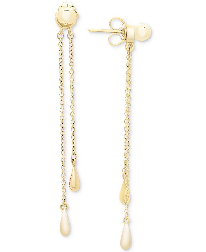 Macy's - Chain Drop Earrings in 14k Gold