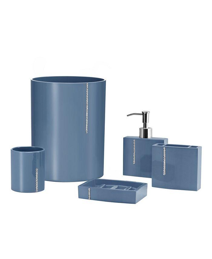 Immanuel Cristal 5 Piece Bathroom Accessory Set Reviews Accessories Bed Bath Macy S