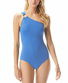 Michael Michael Kors Embellished One-Shoulder Underwire One-Piece Swimsuit