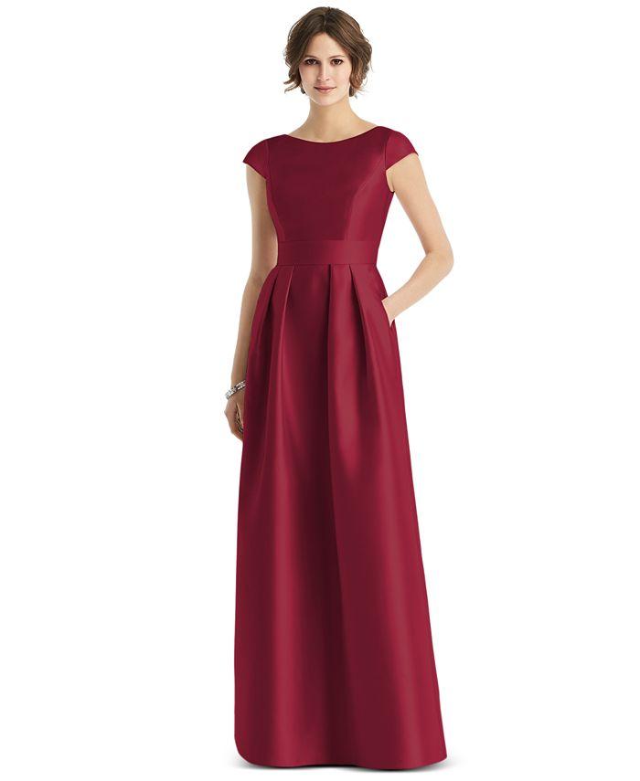 Alfred Sung - Cap-Sleeve Maxi Dress