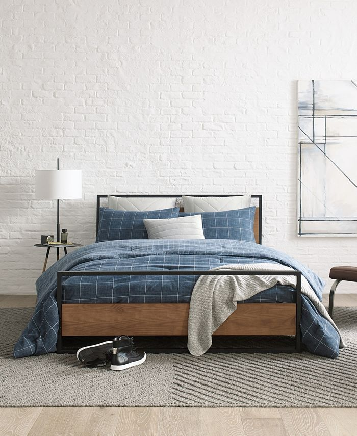 Kenneth Cole - Holden Grid Twin Comforter Set