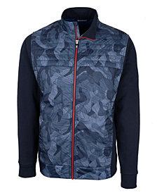 Cutter & Buck Men's Discovery Windblock Hybrid Print Jacket