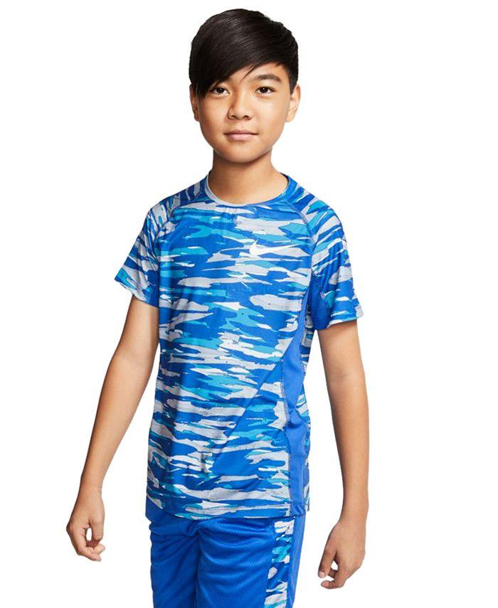 Nike - Big Boys Dri-FIT Camo-Print T-Shirt