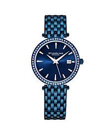 Stuhrling Women's Blue Stainless Steel Bracelet Watch 40mm
