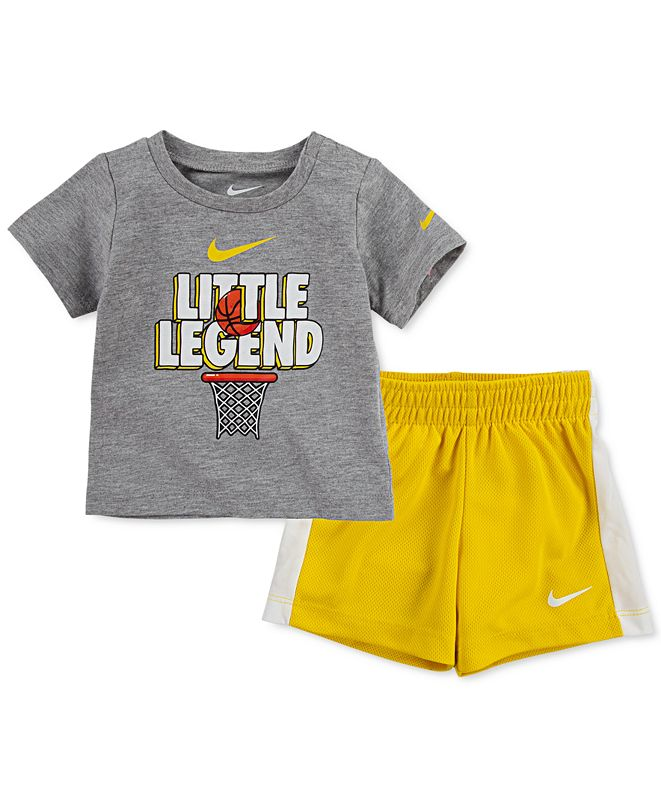 Nike Baby Boys Graphic T-Shirt and Mesh Shorts 2-Piece Set