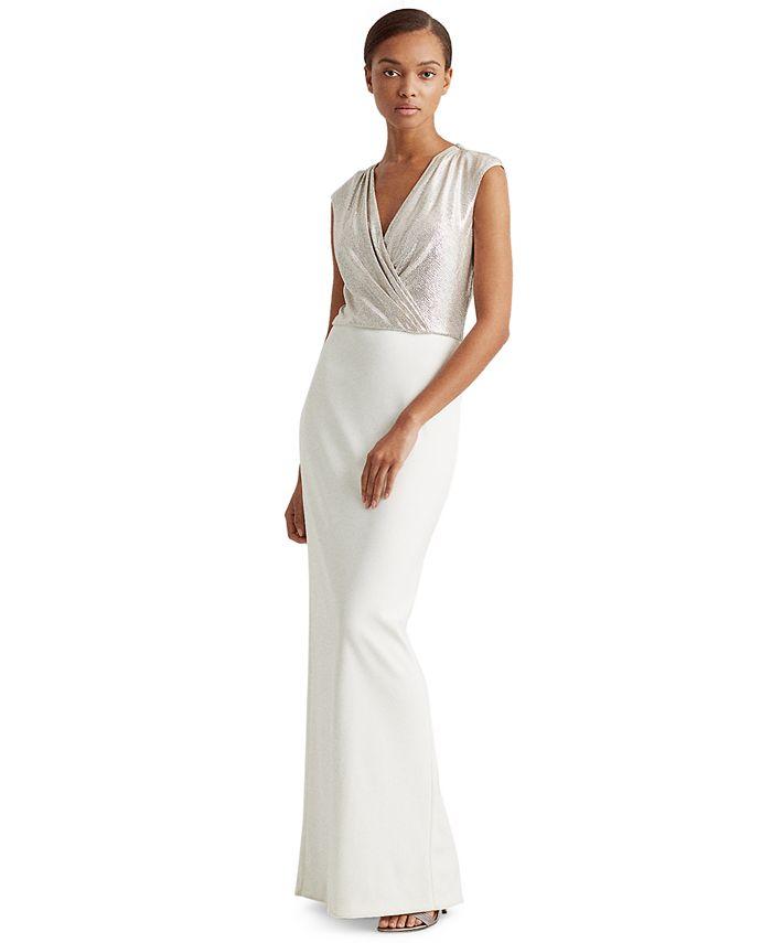 Lauren Ralph Lauren - Two-Tone Jersey Gown
