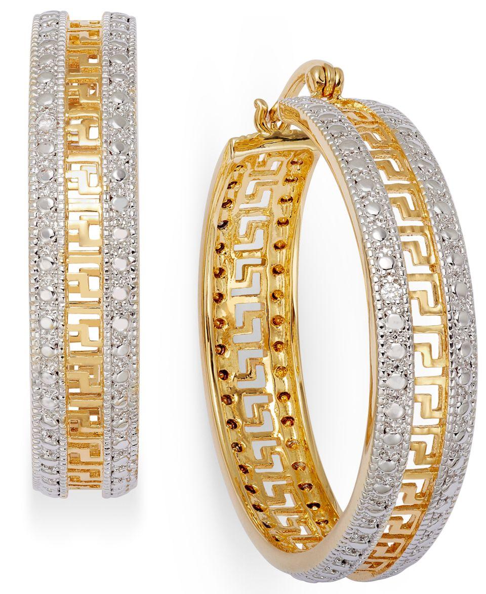 Kaleidoscope Sterling Silver Earrings, Blue and White Swarovski Crystal Hoop Earrings (2 3/8 ct. t.w.)   Earrings   Jewelry & Watches