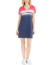 Tommy Hilfiger Tie-Dye Ombré Logo T-Shirt Dress