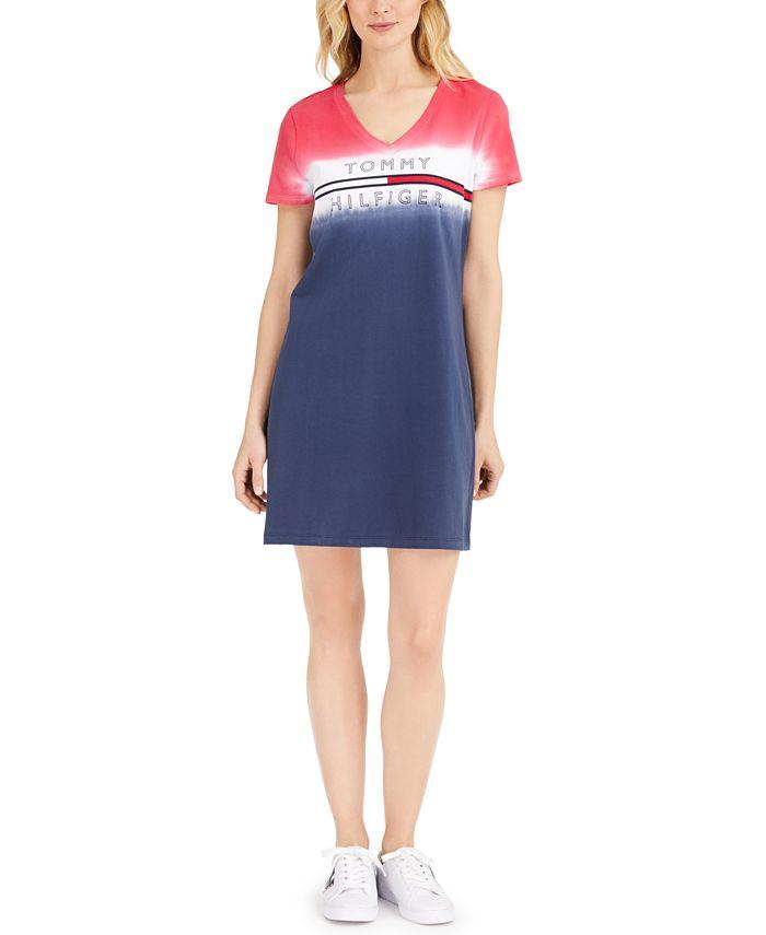 Tommy Hilfiger - Cotton Ombré Logo T-Shirt Dress