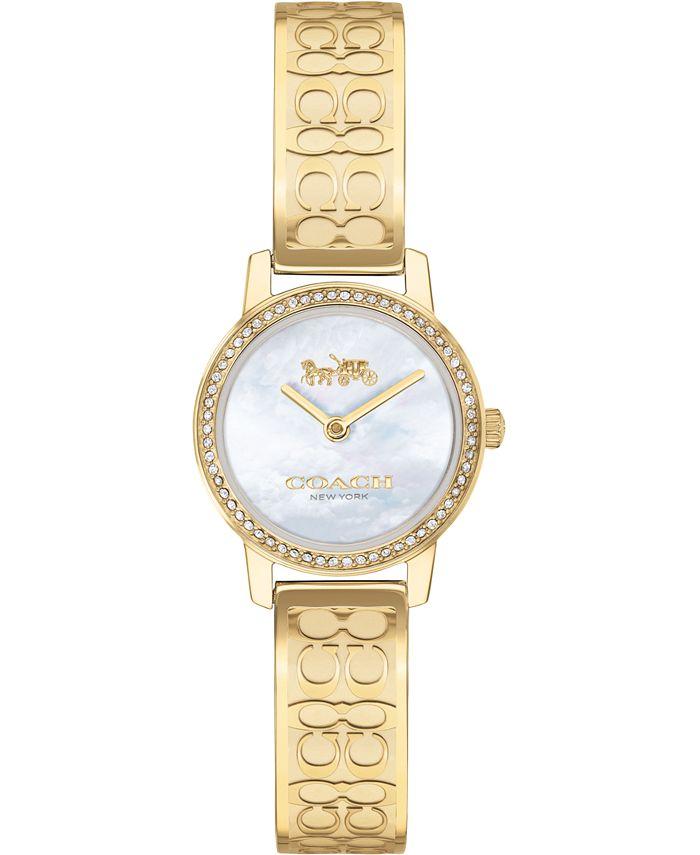 COACH - Women's Audrey Gold-Tone Stainless Steel Bangle Bracelet Watch 22mm