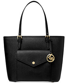 Michael Michael Kors Jet Set Medium Leather Pocket Tote