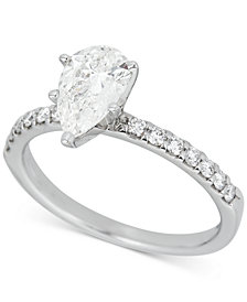 Diamond Pear Engagement Ring (1-1/4 ct. t.w.) in 14k White Gold