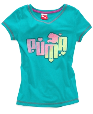 Puma Kids Top Girls Logo Tee