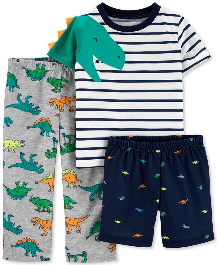 Carter's - Toddler Boys 3-Pc. Dinosaur Pajamas Set