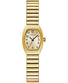 Caravelle Women's Gold-Tone Expansion Bracelet Watch 18x25mm