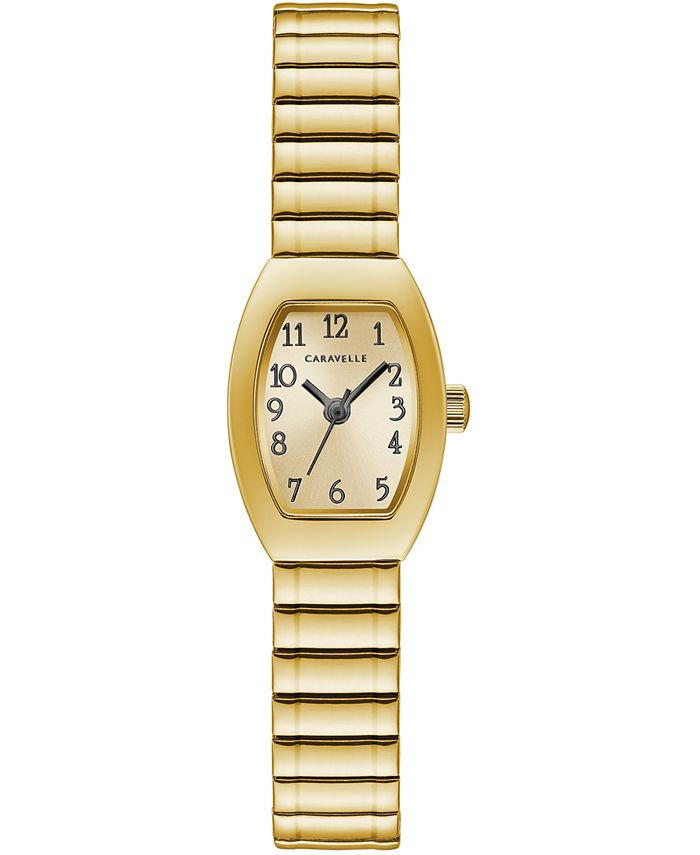 Caravelle - Women's Gold-Tone Expansion Bracelet Watch 18x25mm