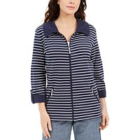Karen Scott Petite Striped Jacket