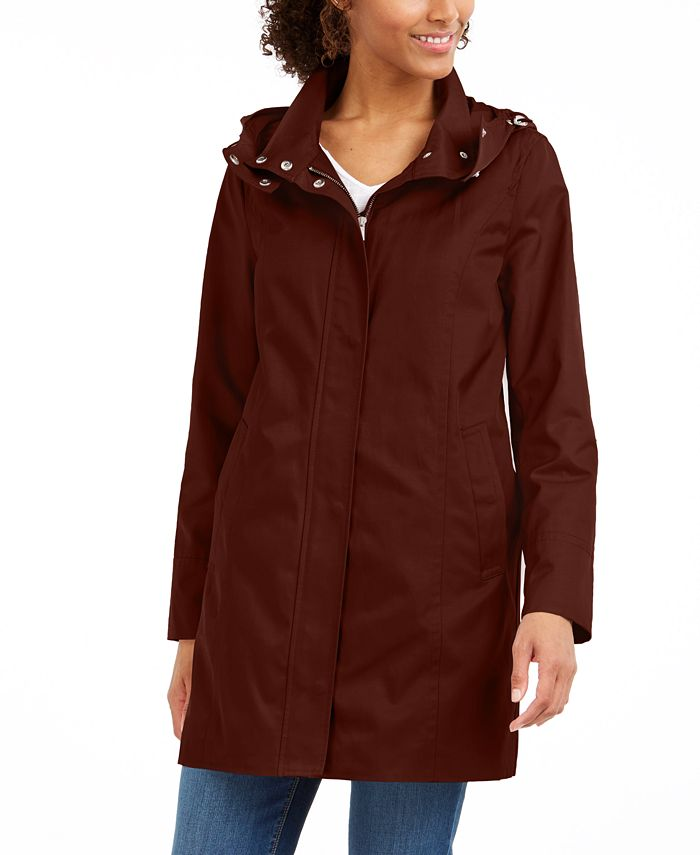 Cole Haan - Hooded Raincoat