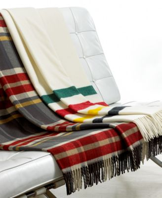 Pendleton Blankets, 5th Avenue Fringed Wool Throw