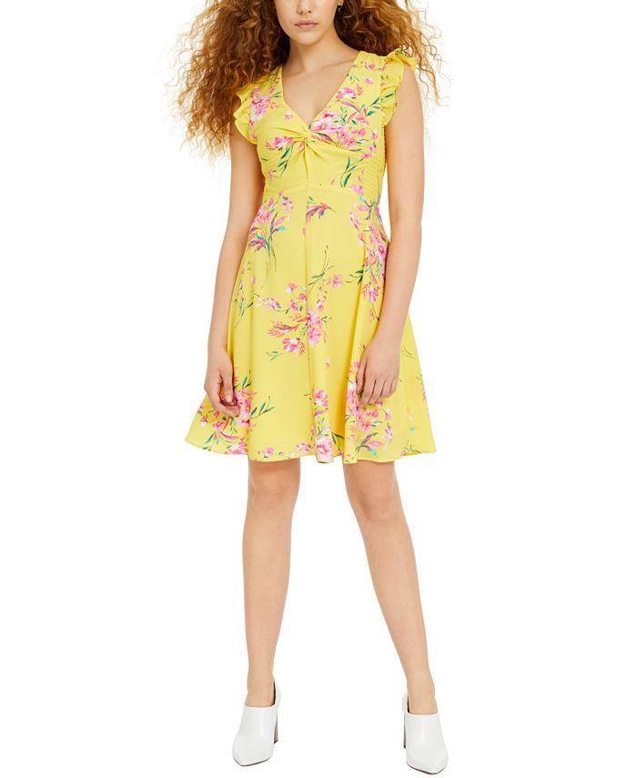 Bar III - Floral-Print Fit & Flare Dress
