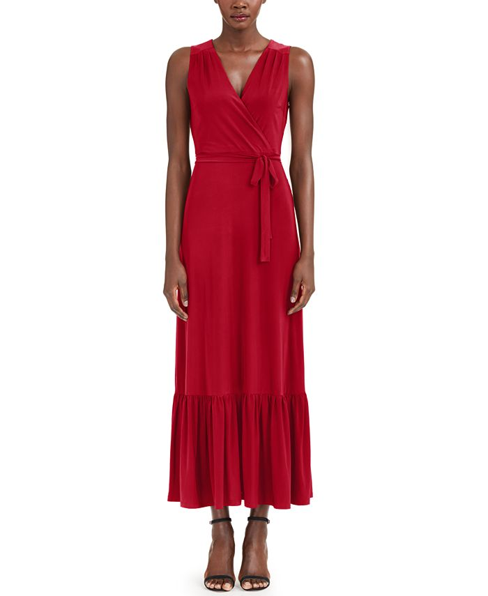 INC International Concepts - Plus Size Wrap Style Maxi Dress