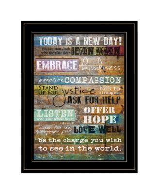 Today Is by Marla Rae, Ready to hang Framed Print, Black Frame, 15