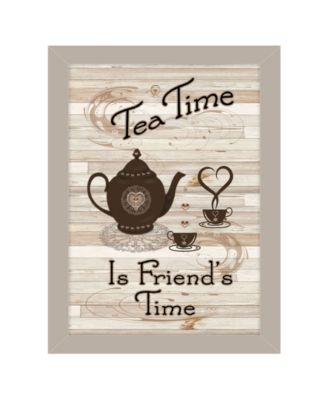 Tea Time by Millwork Engineering, Ready to hang Framed Print, Black Frame, 10