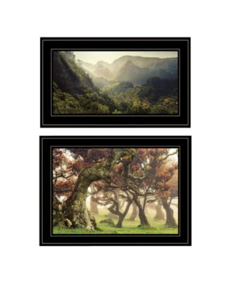 The Land of Hobbits 2-Piece Vignette by Martin Podt, White Frame, 21