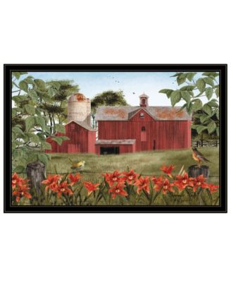 Summer Days by Billy Jacobs, Ready to hang Framed Print, Black Frame, 27