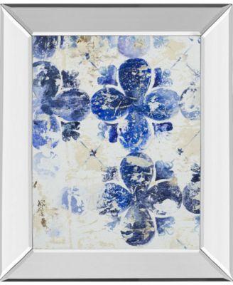 Blue Quatrefoil I by Patricia Pinto Mirror Framed Print Wall Art, 22